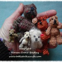 Crocheted Comfort bears by Noreen Crone-Findlay