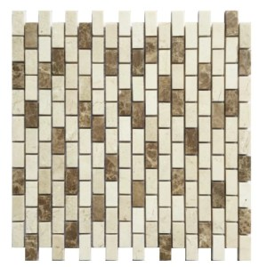 Mix marble brick mosaic decorative tile BRKJCM12