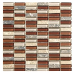 Synergy glass and stone mosaic tile mix N0024