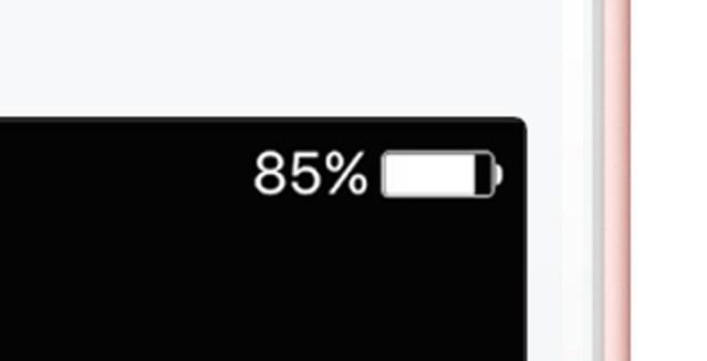 iPhone 6s・6s Plusで電池残量が正しく表示されない問題