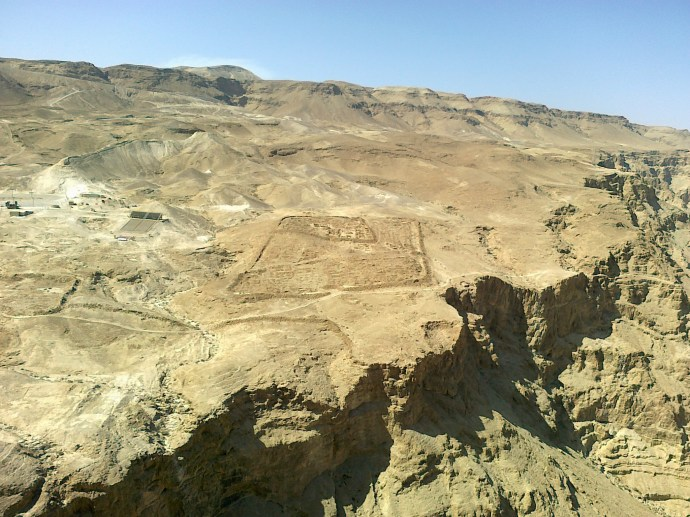Roman camps outside Masada