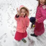 Devorah Leah in the snow