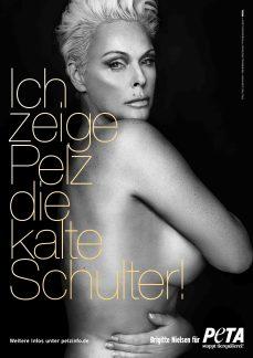 Gemeinsam mit PETA kämpft Brigitte Nielsen gegen Pelz.  © PETA Deutschland e.V./Paul Schirnhofer