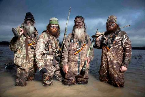 Duck Dynasty Season1 - Left to right: Si, Jase, Phil and Justin Martin. © Foto: THE BIOGRAPHY CHANNEL/Brian Bowen Smith