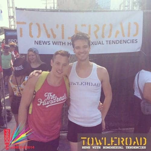 June_07__2014_at_0506PM_--_by_tlrd_--_Good_to_see__officialdaveywavey_at_LA_Pride___tlrdpride__pride__towleroad__losangelespride__lapride__weho__westhollywoodpride__wehopride__gay__lgbt__instaguys__instagays__men