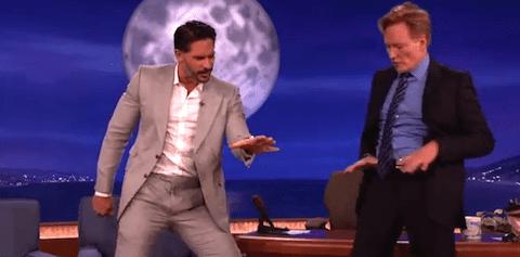 Joe Manganiello and Conan O'Brien Stripper Moves