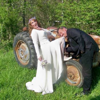 Our couple from England decided to have an Appalacian photo shoot during their honeymoon at Country Manor Acres
