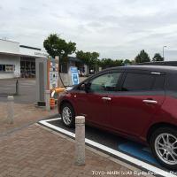 伊勢湾岸道刈谷SAの充電スポット@東洋マーク