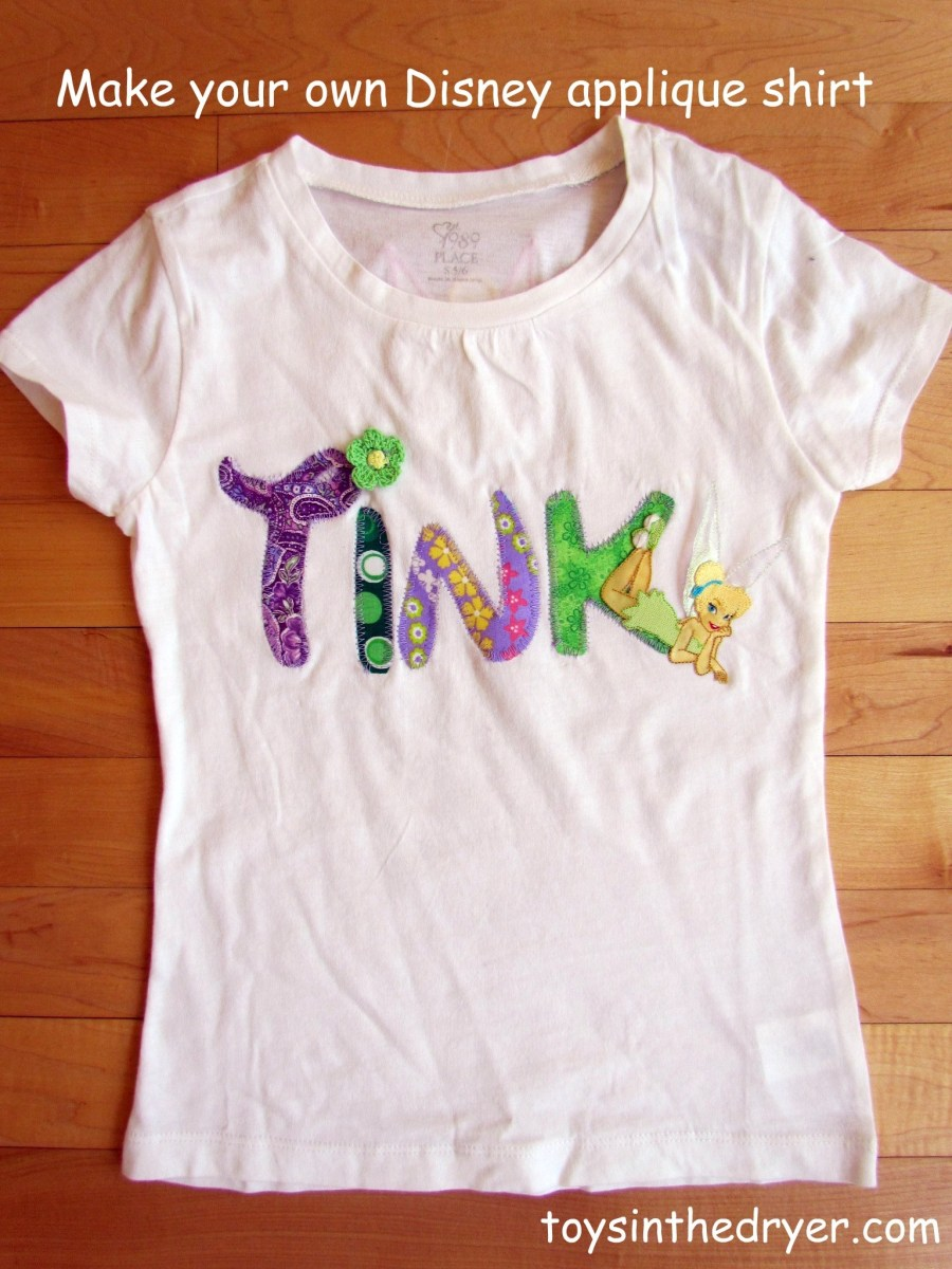 Character Applique Shirts for Disney