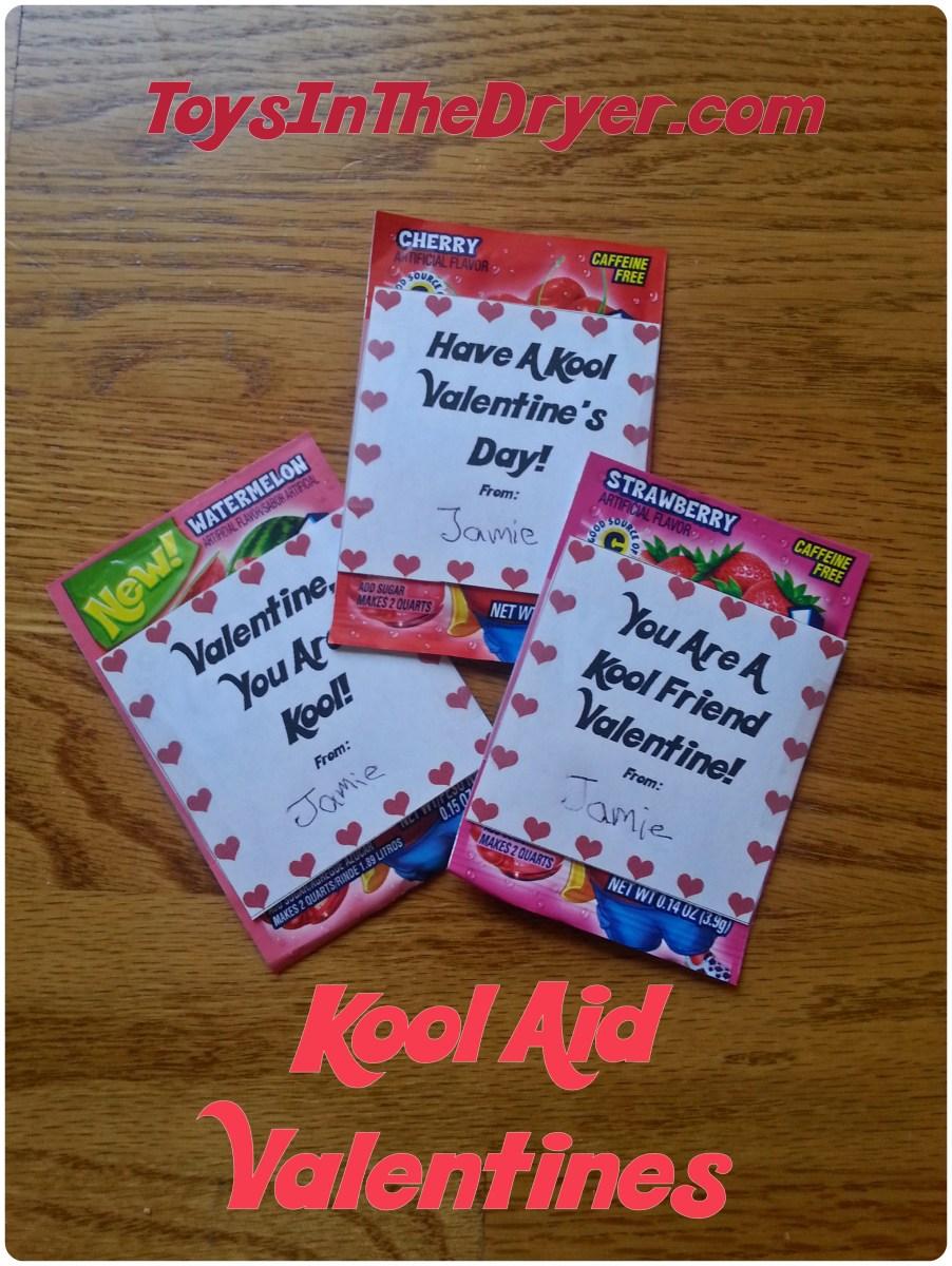 Kool-Aid Valentines FREE Printable!