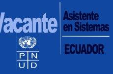 El PNUD abre convocatoria para el cargo Asistente en Sistemas