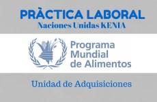 Prácticas en la unidad de adquisiciones del Programa Mundial de Alimentos en Kenia