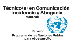 Vacante técnico(a) en Comunicación, Incidencia y Abogacía