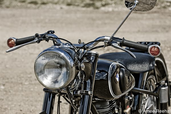 1954 BMW R25 headlight