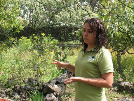 Nature is a classroom for Guadalupe Nuñez at Mexico City Ecological Park.