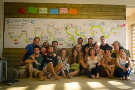Students from a Transition course in Barcelona (Photo: Juan Del Rio)