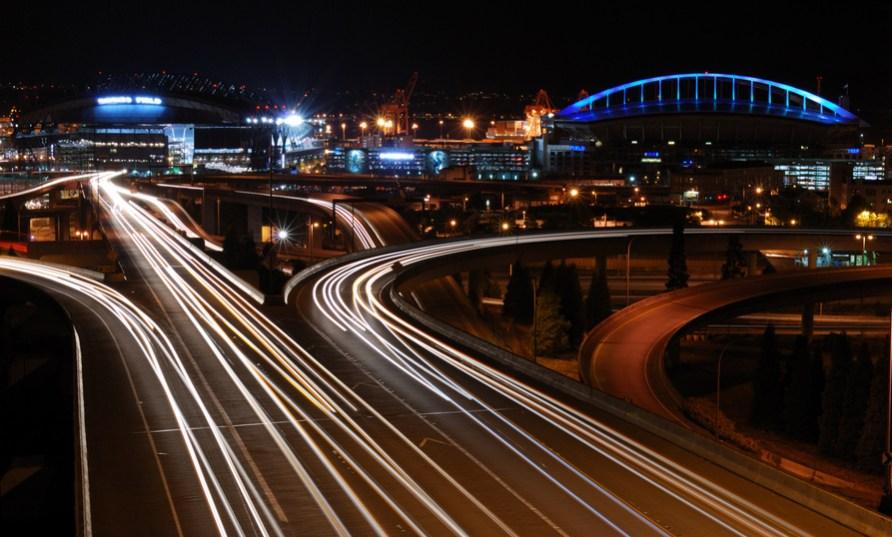 Night Traffic Flow in Seattle