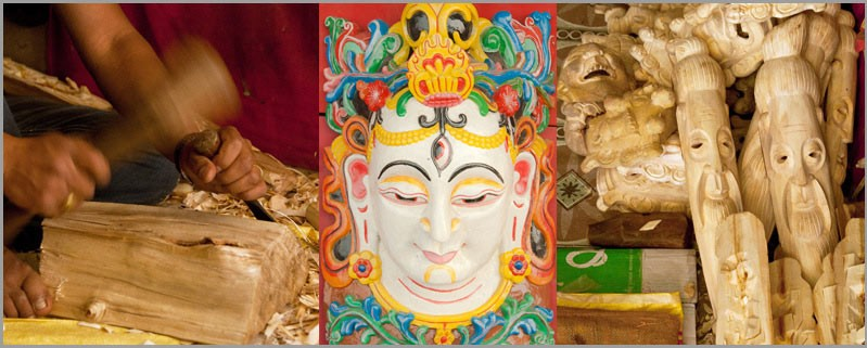 Buddhist and Hindu Masks