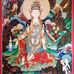 Beautiful Kwan Yin hand painted Artwork