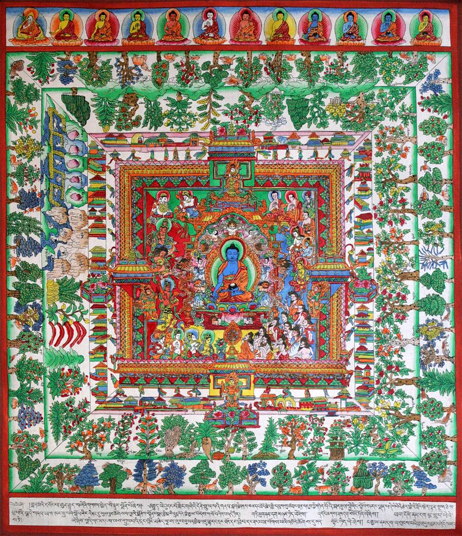 Medicine Buddha Realm Thangka