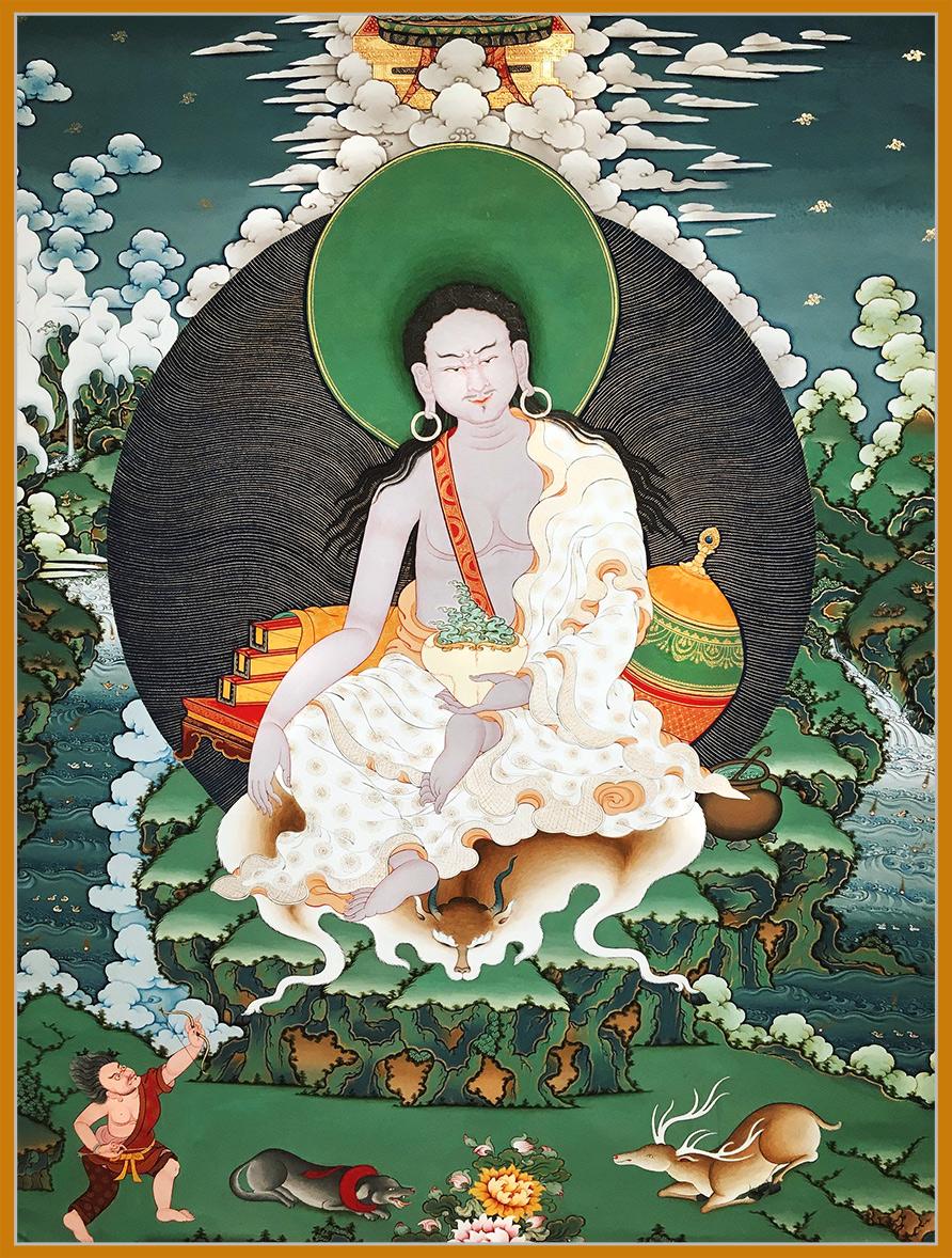Tibetan Thangka of Milarepa