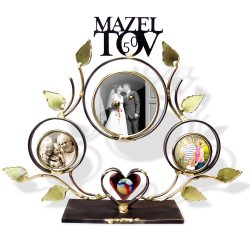 Indoor Jewish Wedding Tov Sculpted Metal Anniversary Family Treeframe Jewish Wedding Tov Sculpted Metal Anniversary Family Tree Frame Wall Collage Family Tree Frame Template
