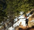 Jerry Armstrong running on Mesa Trail in Boulder Colorado