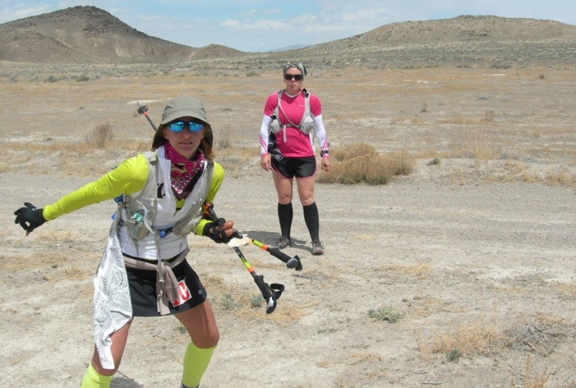 Picture of Ultra Ninja Emily Berriochoa with trekking poles, weapon of choice