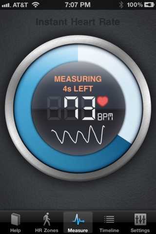 Picture of lara's heart rate application
