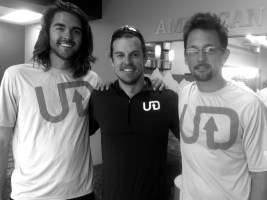 Ryan Priest, Landon Cooper and John McKay, ultra runners for Miles 2 Give