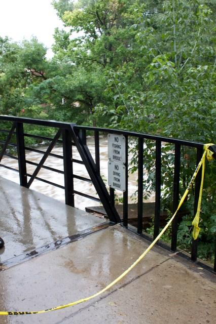 Police tape at Boulder Creek