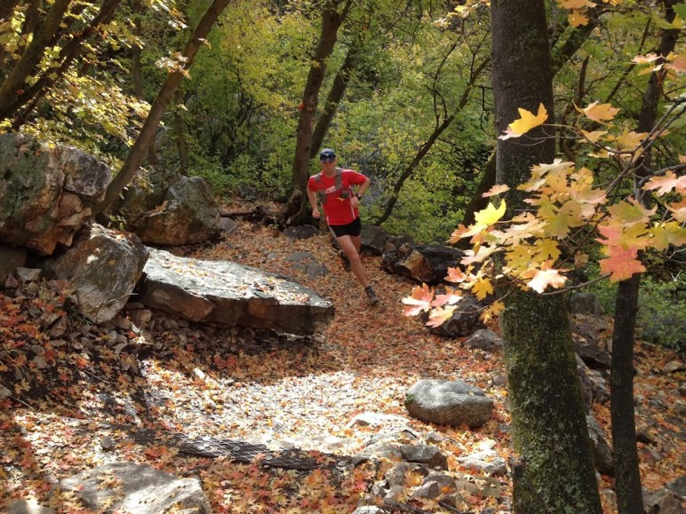 The author running local trails along the Wasatch Front, UT