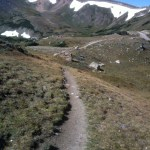trail on continental divide of Rocky Mountains