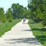 inline skater on colorado's platte river trail north section