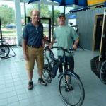 Optibike owner Jim Turner & Trailsnet owner Kevin Purdy