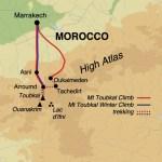 Tubkai mountain in Morocco