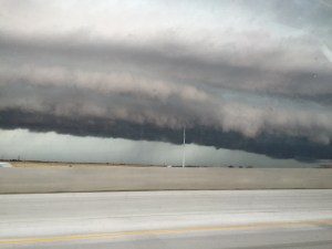 The death cloud of doom as taken from moving vehicle.