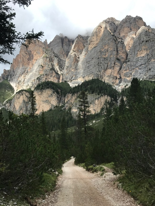 The Dolomites are almost too dramatic to fit in the photo frame.