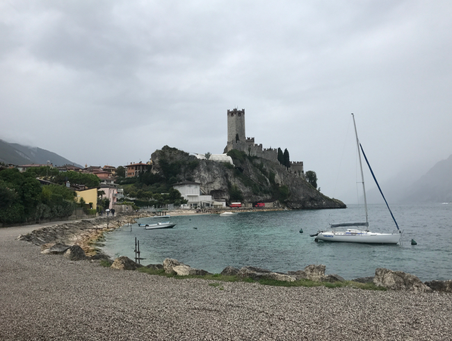 Malcesine Bay with the Castello Scaligero tower.