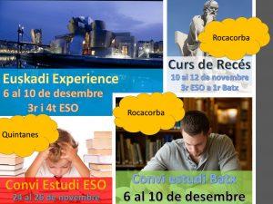 De 3r ESO a Batxillerat: activitats per novembre i desembre