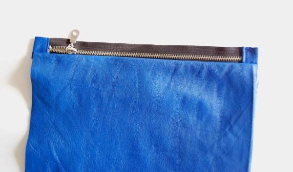DIY leather clutch tutorial