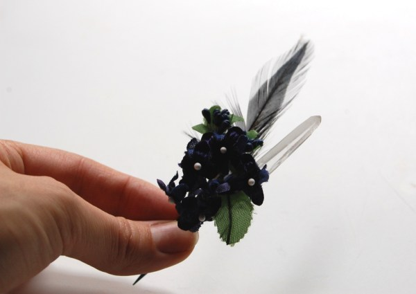 crystal boutonnierre DIY tutorial