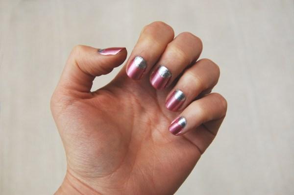 glitter miu miu bootie inspired manicure