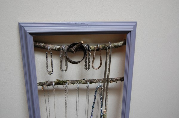 jewelry organization rack storage DIY