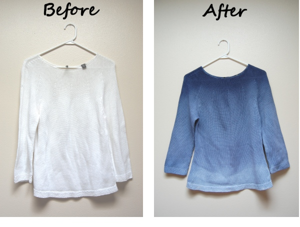 DIY Dip-Dye sweater tutorial