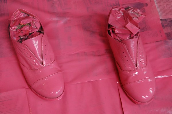 spray painted brogues/shoes