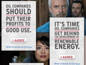 Chevron ads on profits and renewable energy