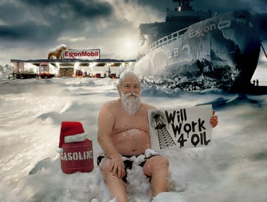 Homeless-Santa-Arctic-Oil-Drilling