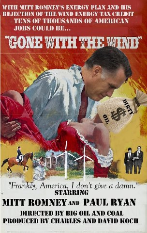 Parody poster about Romney energy plan