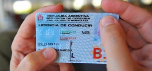 Licencia de conducir provincial. (Foto: LaVoz)